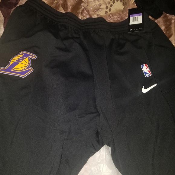 3fb4bf11b6e3 Black LA Lakers Shorts. NWT. Nike